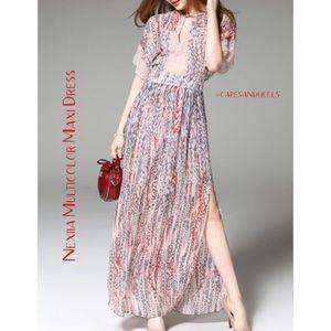 Nexiia | Multicolor Maxi Dress NWT!